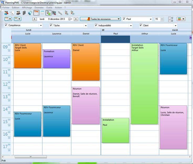 modele planning rdv | Astuces excel, Rdv, Planning