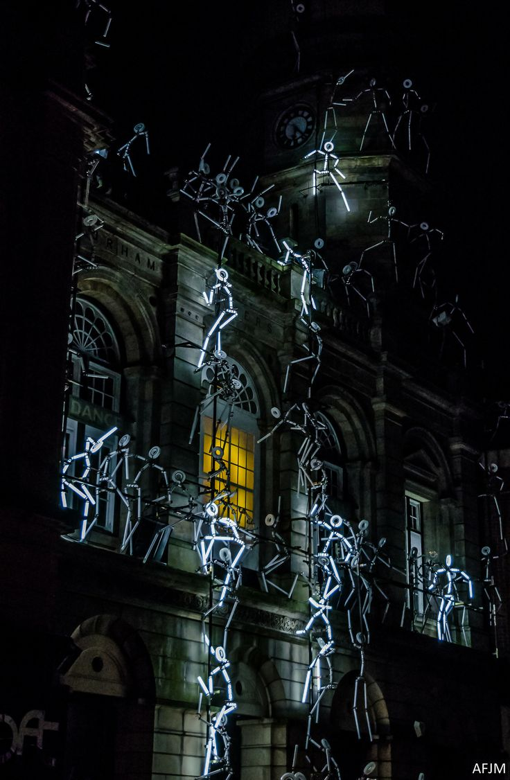 'Key Frames', neon by Groupe LAPS, Lumiere Durham 2011