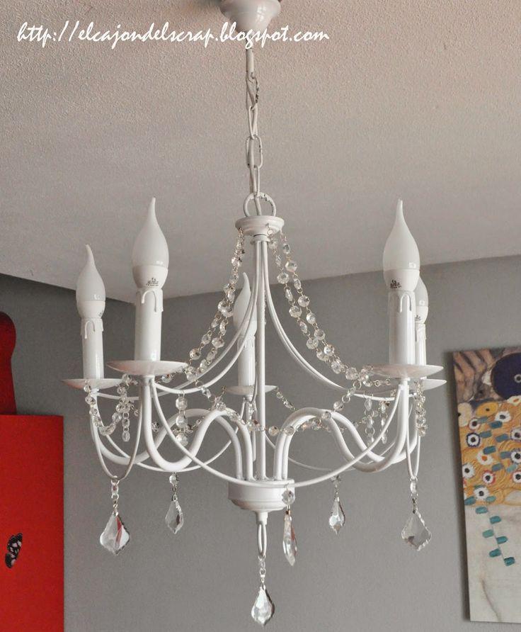 El cajón del scrap: Lámpara de araña restaurada / Recycled chandelier