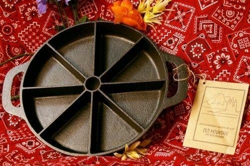 Old Mountain Cast Iron Preseasoned Per-Sliced Cornbread