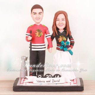 stanley cup wedding cake topper hockey chicago blackhawks and wedding on 20489