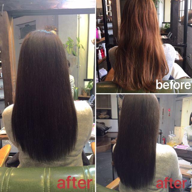 《髪質改善ストレート&こだわりのカラー》新生活にもぴったりなダークグレーブラウンと自然にまとまるストレートスタイル♪