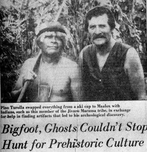 In 1968, archaeologist Pino Turolla glimpsed two apelike creatures in the Venezuelan jungle.