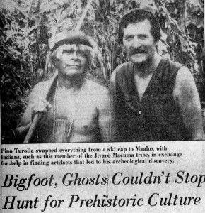 In 1968, archaeologist Pino Turolla glimpsed two apelike creatures in the Venezuelan jungle.