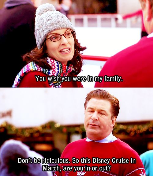 "30 Rock Season 2 Episode 9: Ludachristmas. ""So this Disney cruise in March, are you in or out?"""