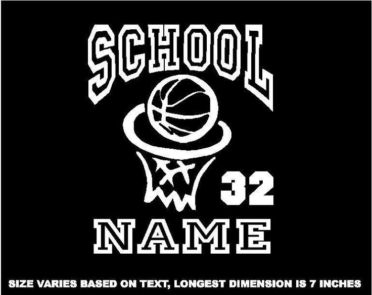 Personalized basketball decal window sticker for car wall laptop bk3