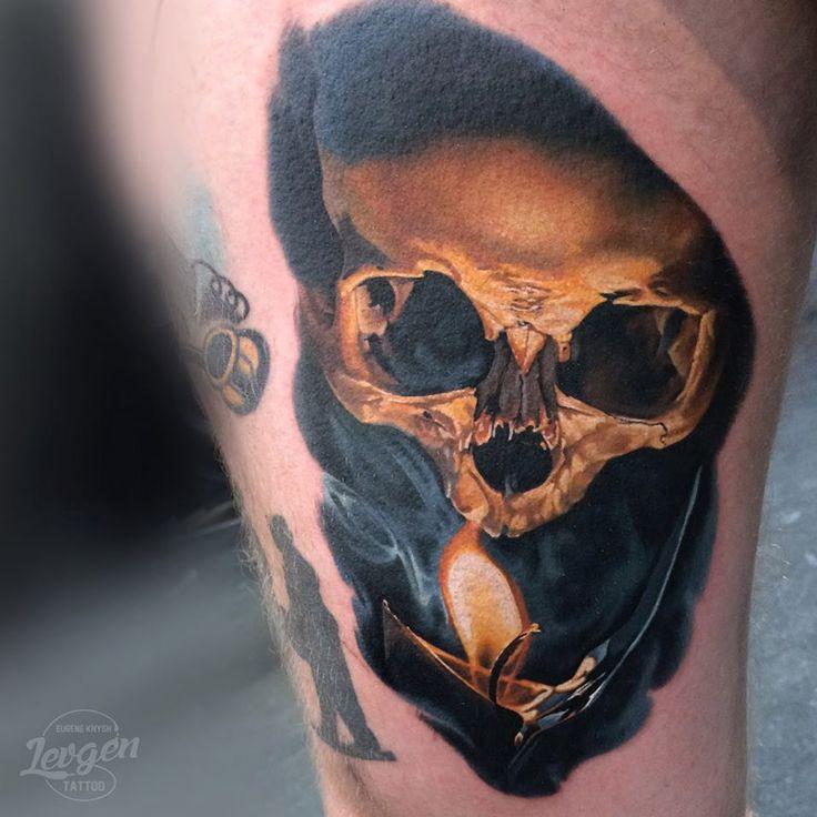 Skull & Candle Realistic Tattoo   Best tattoo design ideas