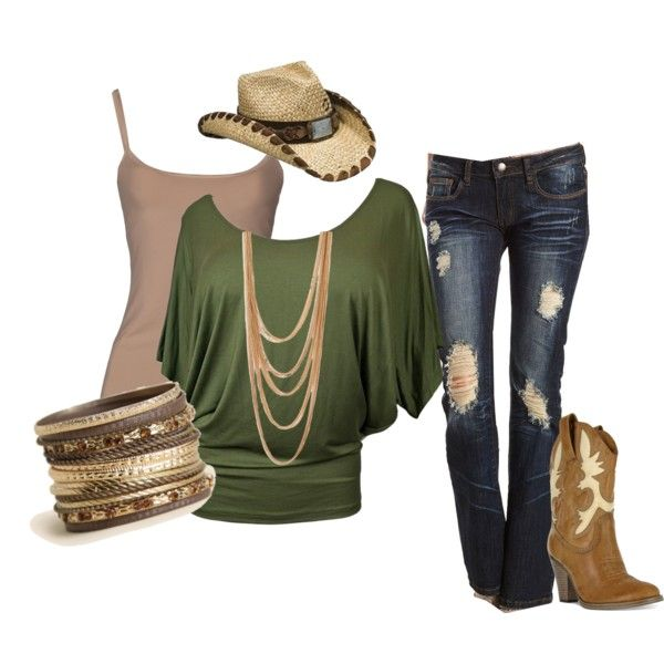 """Dayton's Hott Cowgirl Outfit"" by me on Polyvore"