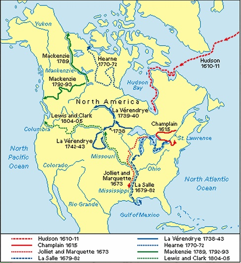 The European Explorers of North America