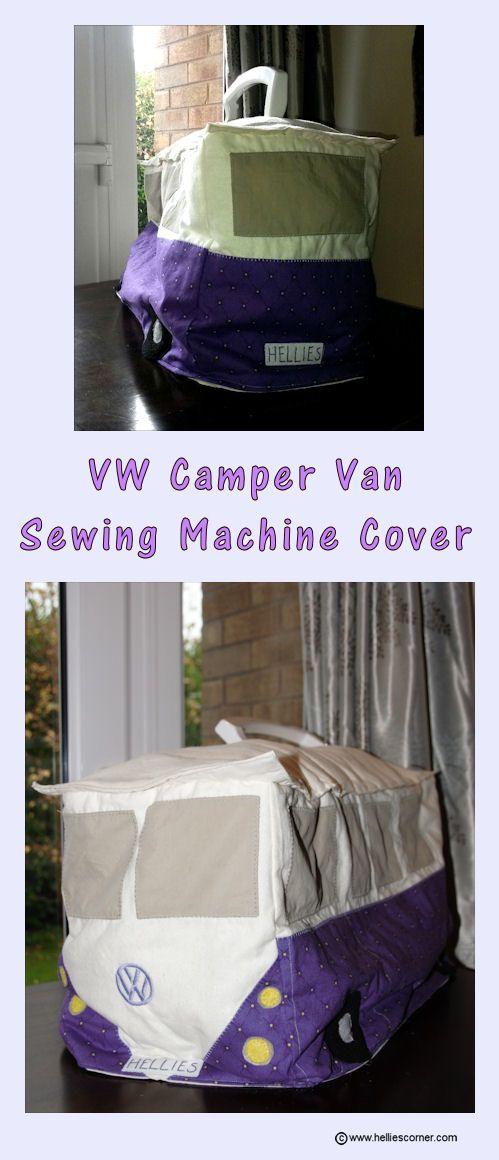 VW Camper Van Sewing Machine Cover | Hellie's Corner http://www.helliescorner.com/?p=4518