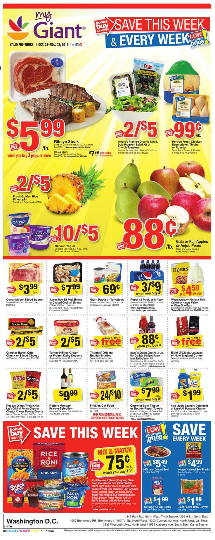 Giant Food Weekly Ad October 28 - November 3, 2016 - http://www.olcatalog.com/grocery/giant-food-weekly-ad.html