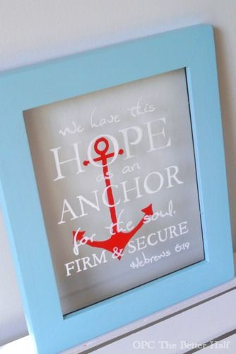 DIY Nautical Frame using glass paint pens with free printable - OPC The Better Half