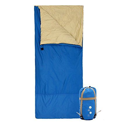 "Ohuhu 75""x 34"" Backpacking Sleeping Bag for Temperatures 48 F to 59 F"