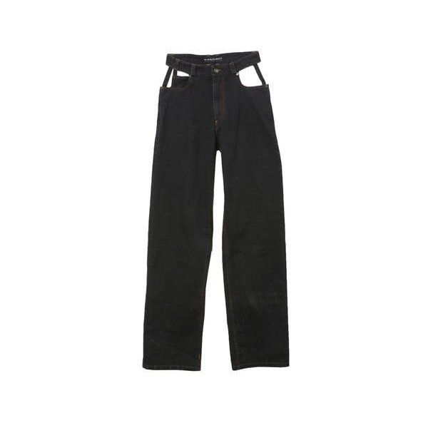 Y Project Black Cut Out Jean ($230) ❤ liked on Polyvore featuring jeans, pants, bottoms, cut out jeans and cutout jeans