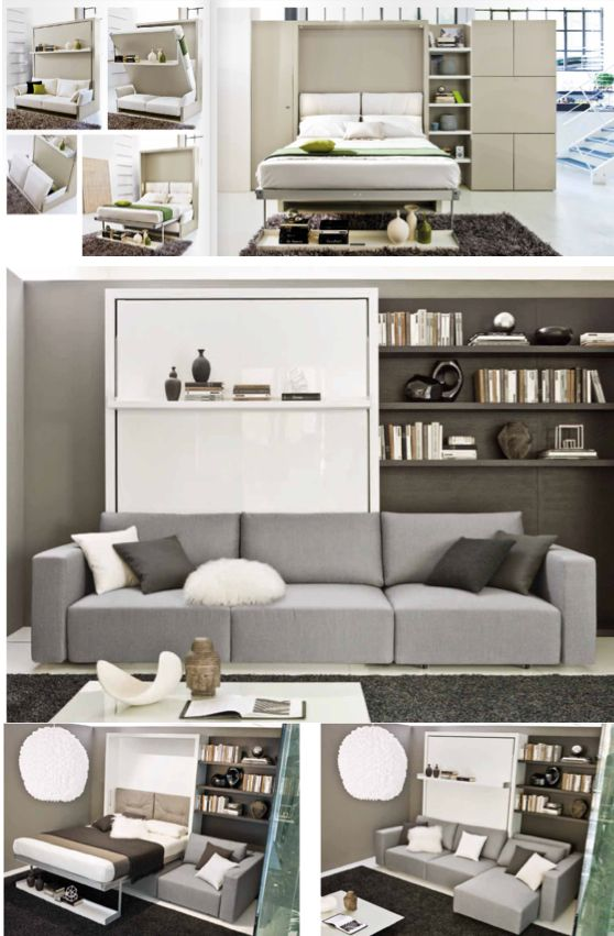 Space saving and cool modular furniture i think its kinda a modern day murphy bed design - Space efficient studio apartment furniture ideas for your small living place ...