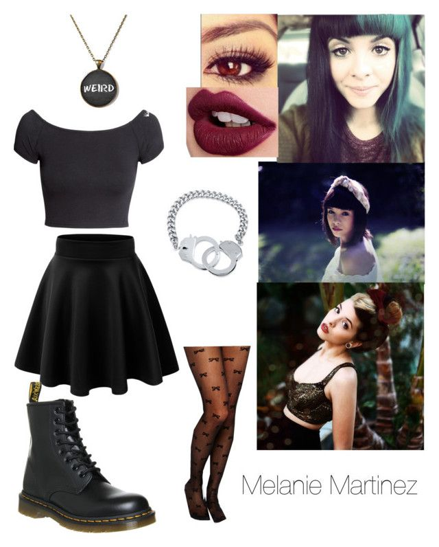 """""""Photoshoot with Melanie Martinez"""" by mely-carrasco ❤ liked on Polyvore featuring H&M, Dr. Martens, Leg Avenue, Bellybutton and BERRICLE"""