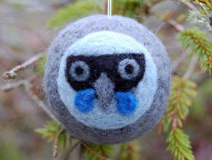 Felted wool decoration - kokako