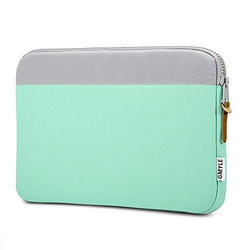 GMYLE Sleeve Duo for MacBook Pro Air Retina 13 - Charcoal Grey & Turquoise blue Soft Sleeve Bag Case Cover