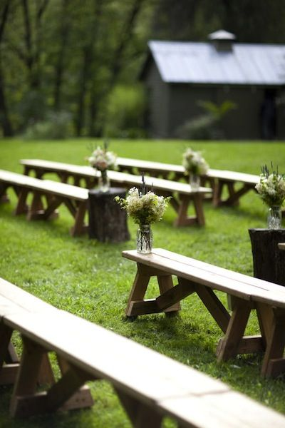 Barn Wedding Ceremony Ideas - Many of these can be applied to an event at Cobblestone!