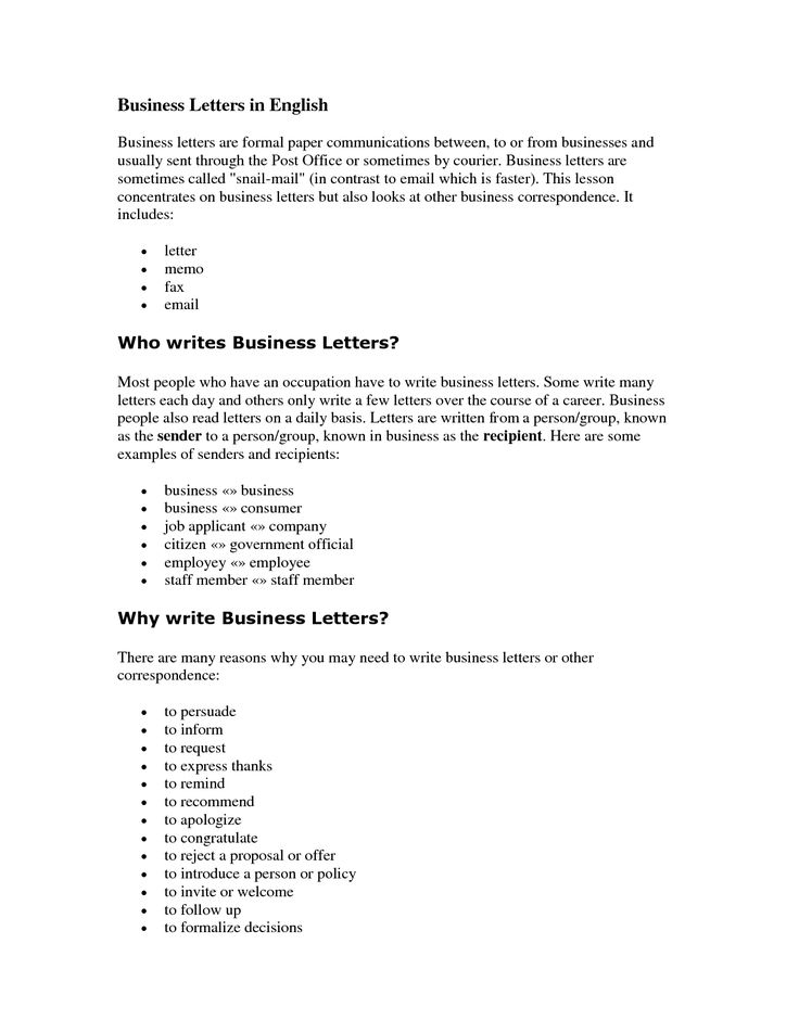 sample letter writing english format letters how write business - memo formats