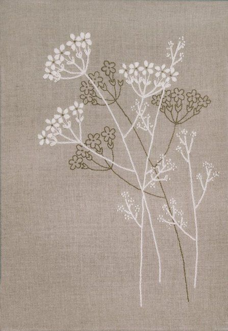Design Works Queen Anne's Lace - Candlewicking Embroidery Kit. Candlewicking Embroidery Kit from Design Works featuring delicate flowers. This Embroidery kit co