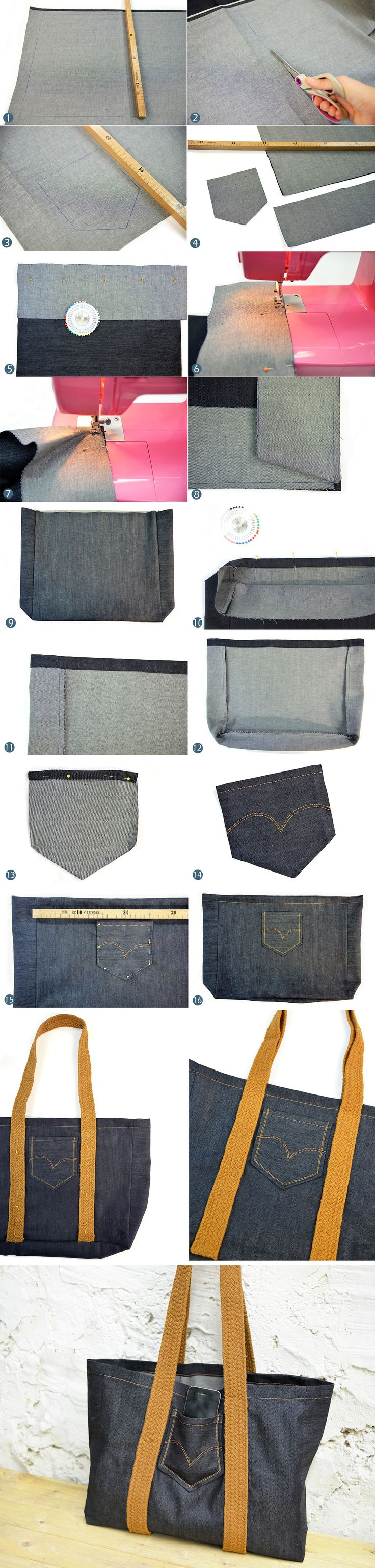DIY sac cabas jean's - Les Coupons de Saint Pierre