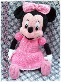 Minnie Mouse Amigurumi Gratis Haakpatronen Uncinetto Bambole En