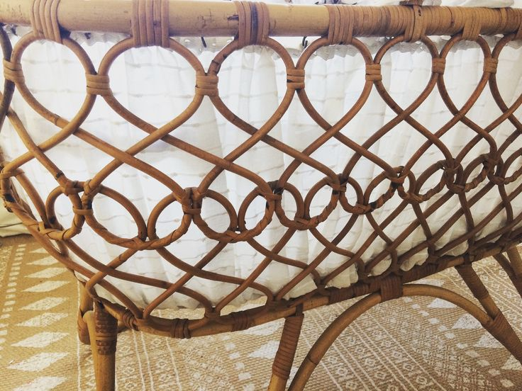 details of the crib in our nurseryroom #rattan