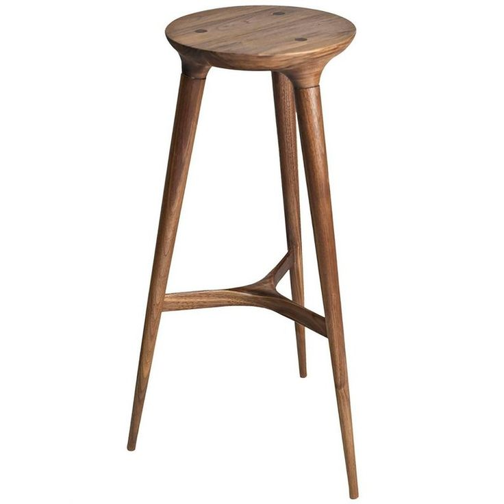 Kingstown Barstool Contemporary Three Legged Stool by Studio
