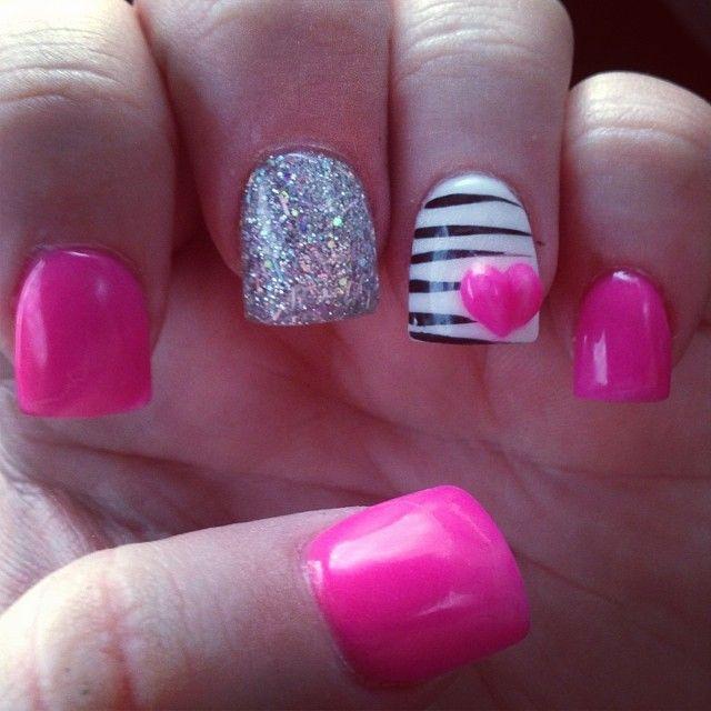 Pink + White + Silver | Stripes