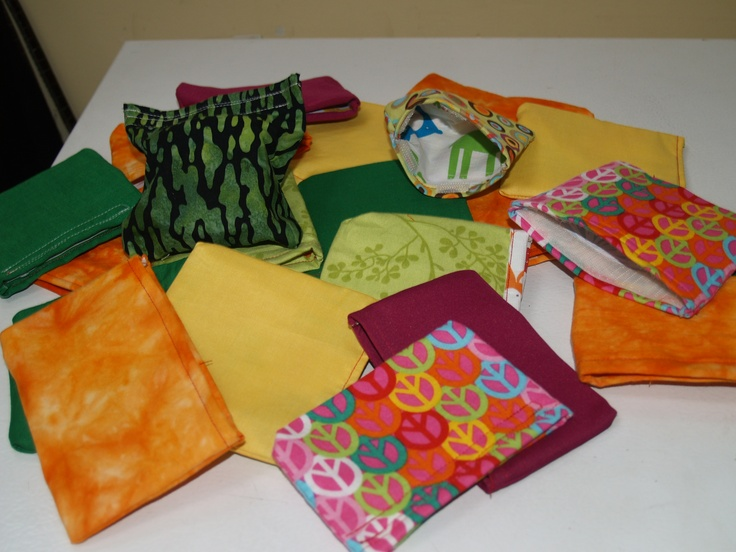 21 reusable snack bags that I made for Earth Day for Parker's class. Very quick and easy!