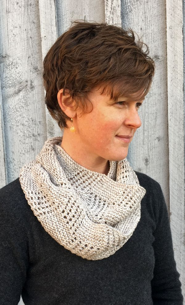 The Beinecke Library is a landmark on the Yale University campus where Cap has worked for many years. The famous facade and the stacks inside inspired the textured and lacy block stitch pattern of this infinity cowl. This easy cowl will keep you warm and stylish during the winter months. You can make the cowl longer or shorter by adding or subtracting pattern repeats. Knit up with two skeins of Sylvan Spirit, you'll love working this infinity cowl as much as you will wearing it!