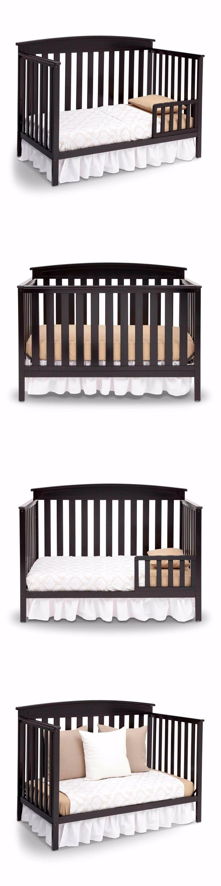 Baby Nursery: New 4 In 1 Convertible Baby Crib Mattress Toddler Nursery Bed  Changer Side