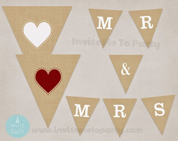 Invite Me To Party: Burlap Mr and Mrs Wedding Garland