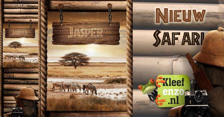 Met deze safari muursticker voor de kinderkamer maak je makkelijk en snel een stoere safari kamer! De unieke en gratis naamvermelding op de sticker maakt het helemaal af...