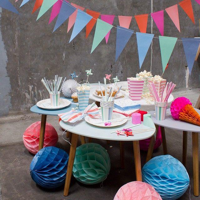 In stores now. Pennant in blue/green and red/pink. 5 metres. DKK 10,90 / SEK 16,77 / NOK 15,80 / € 1,73 / ISK 353 #søstrenegrene #sostrenegrene #pennants #vimpler #fødselsdag #fest #hygge #pynt #deco #festlig #party #birthday