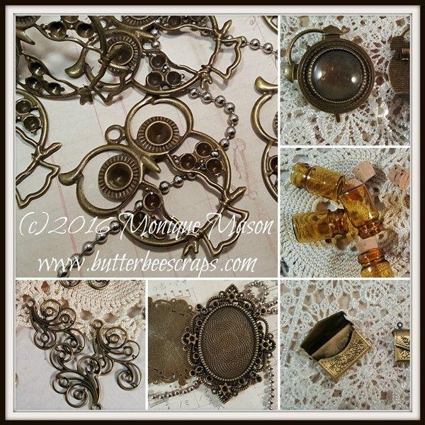 ButterBeeScraps metal filigree embellishments