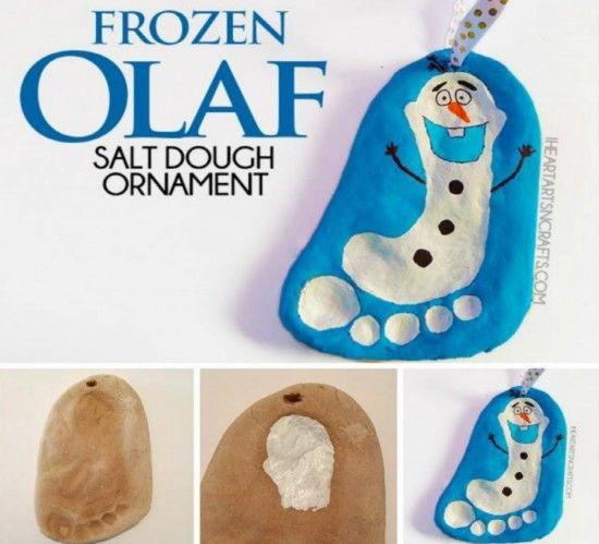 Frozen Olaf Salt Dough Ornament