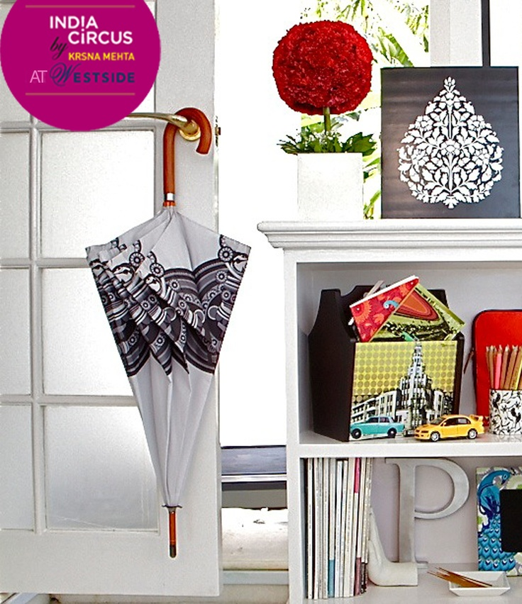 The brilliance of India Circus lies in the diversity, that it brings into all its collections.    Store your magazines in style with this chic magazine-rack, while this classy umbrella is sure to bring a smile on your face,on a rainy day!    Available at select Westside stores (Mumbai,Bangalore, Chandigarh, Delhi, Gurgaon, Calcutta) and on www.indiacircus.com
