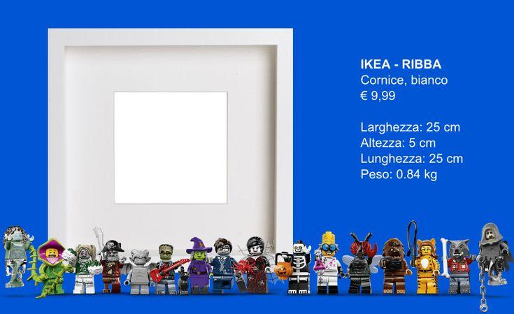 IKEA Ribba Hack - LEGO Minifigures Display Frame Tutorial 1 - Base - Clicca per ingrandire l'immagine