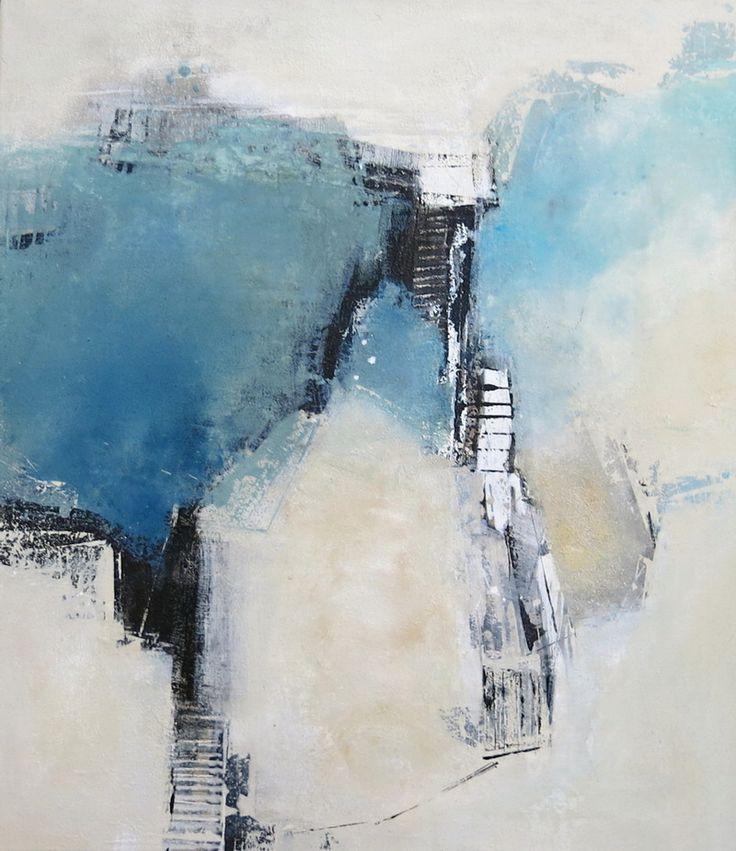 5 - Im Blau verborgen - Acryl-Mischtechnik auf Leinwand - 0,80 m x 0,70 m …