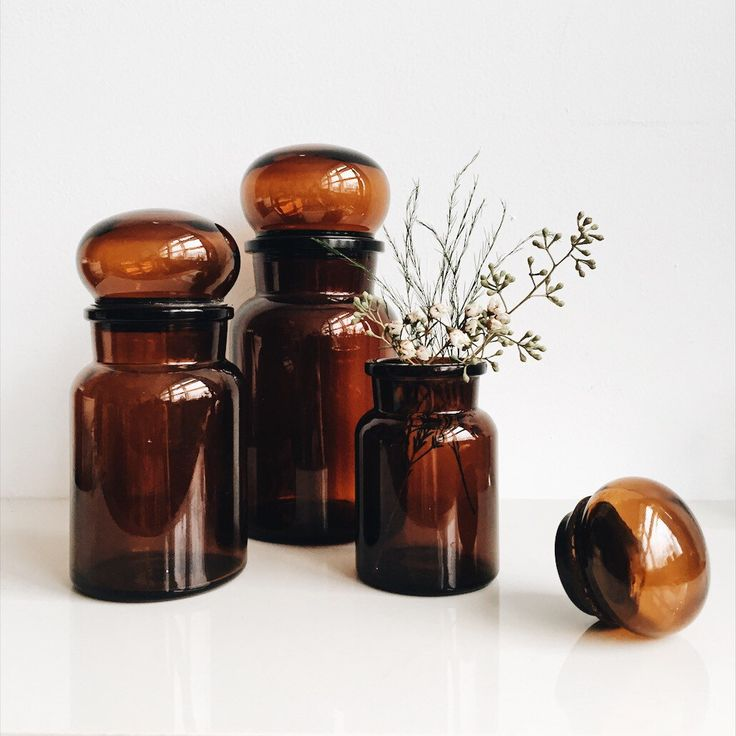 Vintage Belgium Glass Apothecary Jars // Bubble Top // Set of 3 by LiminalCollective on Etsy https://www.etsy.com/listing/494848843/vintage-belgium-glass-apothecary-jars