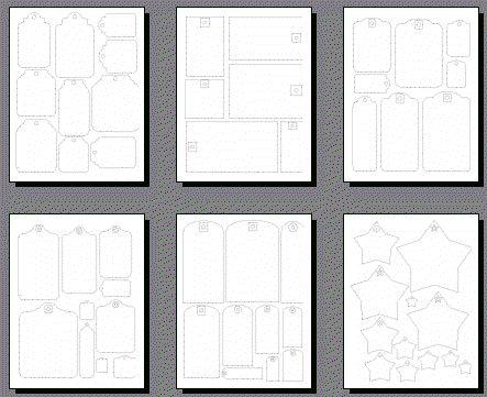 Free Printable Papercraft Tag Templates