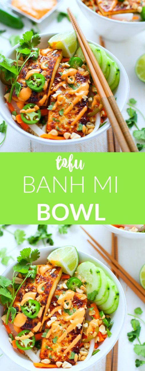 Inspired by my recent trip to Vietnam, this Tofu Banh Mi Bowl is packed with Vietnamese flavor and nutrition!