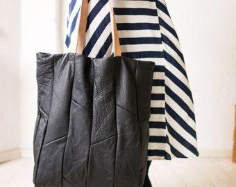 tela e Leather Tote borsa grande supplementare Hobo Bag