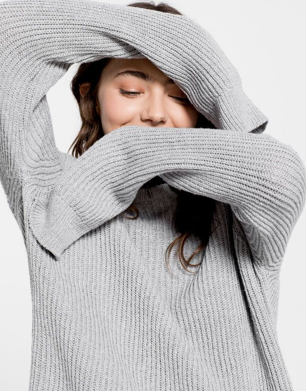 FLOWING SWEATER - CARDIGANS & SWEATERS - WOMAN - PULL&BEAR Portugal