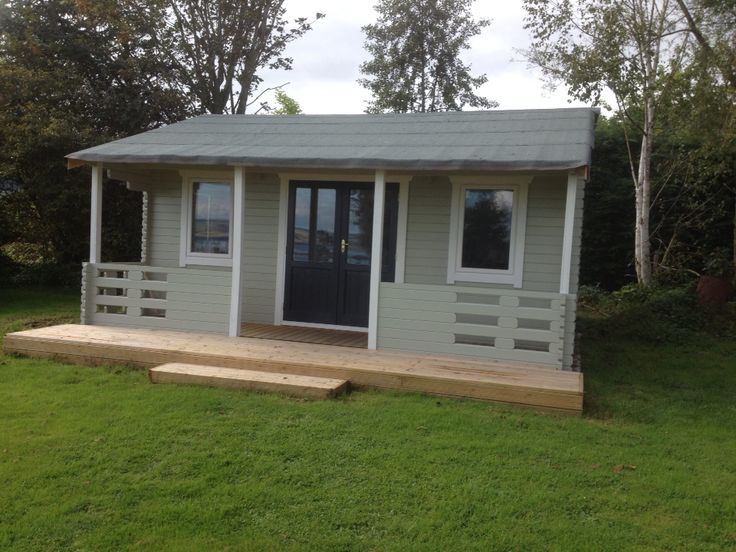 Pumblechook Studio Work Room Garden Cabin Painted In Farrowandball French Gray Strong White