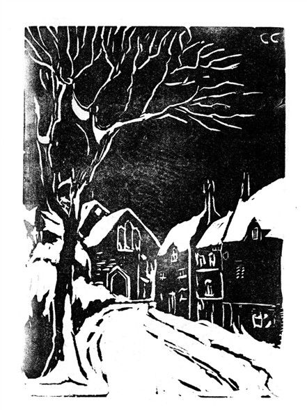 Photo:Linocut from The Bottesfordian 1951