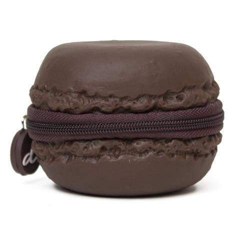 Chocolate Macaron Coin Purse