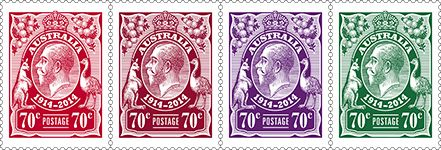 100th Anniversary of King George V stamps